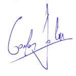 Firma del poeta Carlos Salem. La poesía mancha