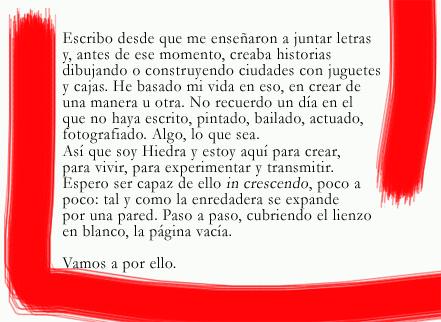 Biografía de la poetisa Hiedra. La poesía mancha