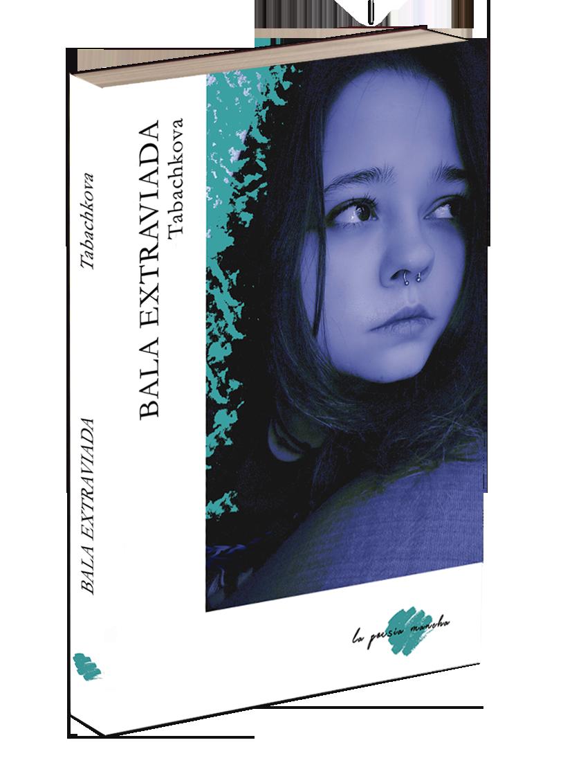 Libro en relieve de poesía Bala extraviada en La poesía mancha