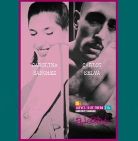 Cartel presentación del libro de poesía de Carolina Sánchez y Carlos Selva
