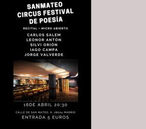 Cartel de presentación recital de poesía Salem y Valverde