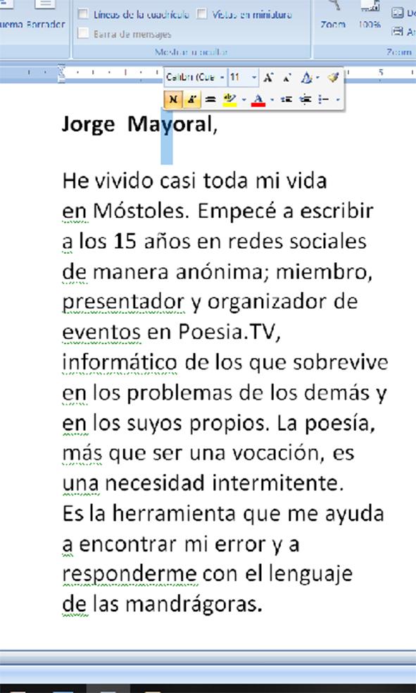 Biografía del poeta Jorge Mayoral. La poesía mancha