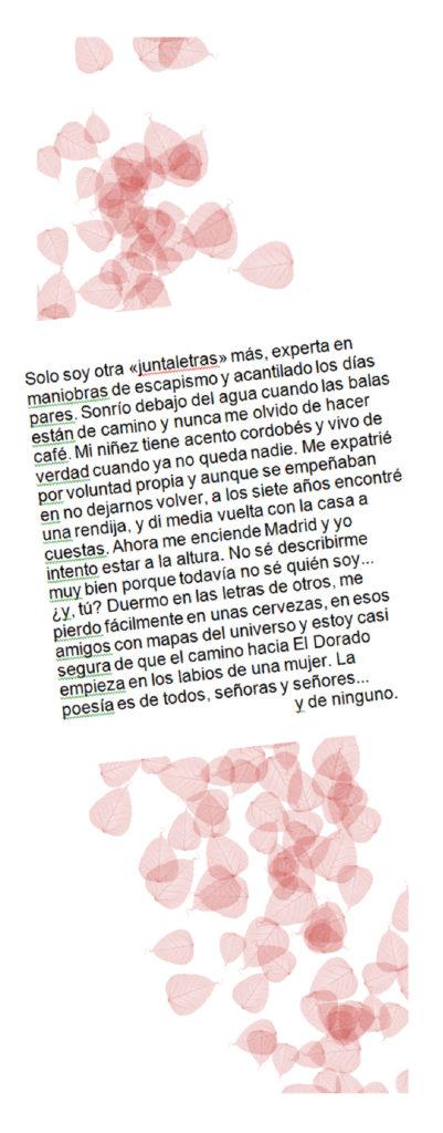 Biografía poética de Maca Sotovocce