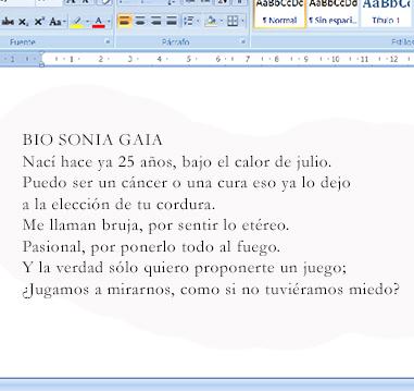 Biografía poética de Sonia Gaia