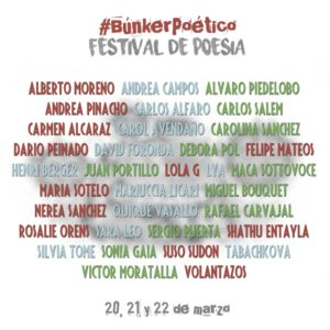 Cartel recital poesia