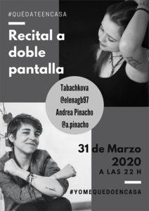 Recital de poesía de Picacho y Tabachokova