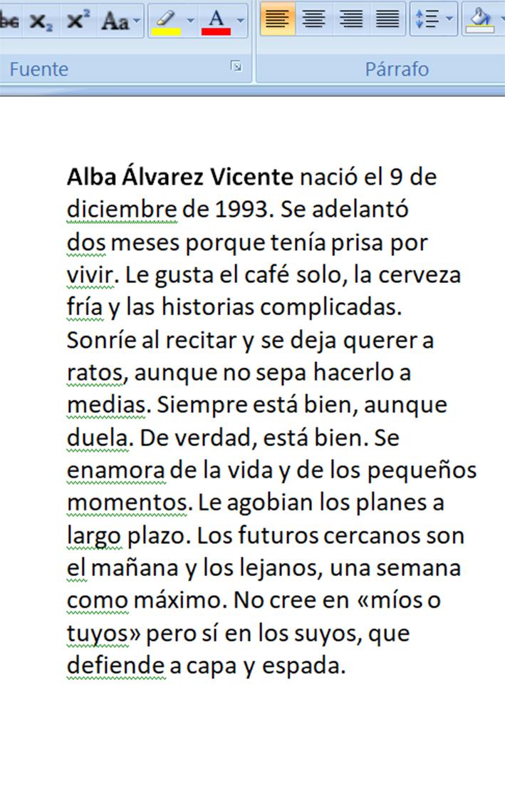 Biografía de Alba Álvarez Vicente